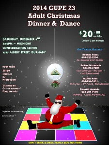 2014 Cupe 23 Christmas Adult Dinner and Dance