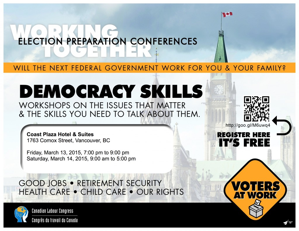 Vancouver -Election-Workshops 15-03-13