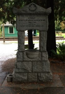 Remembrance Day Marker at BVM-b