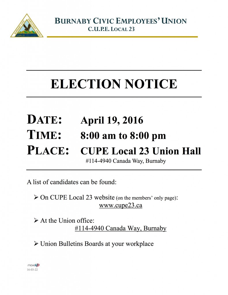 Election Day Notice 2016