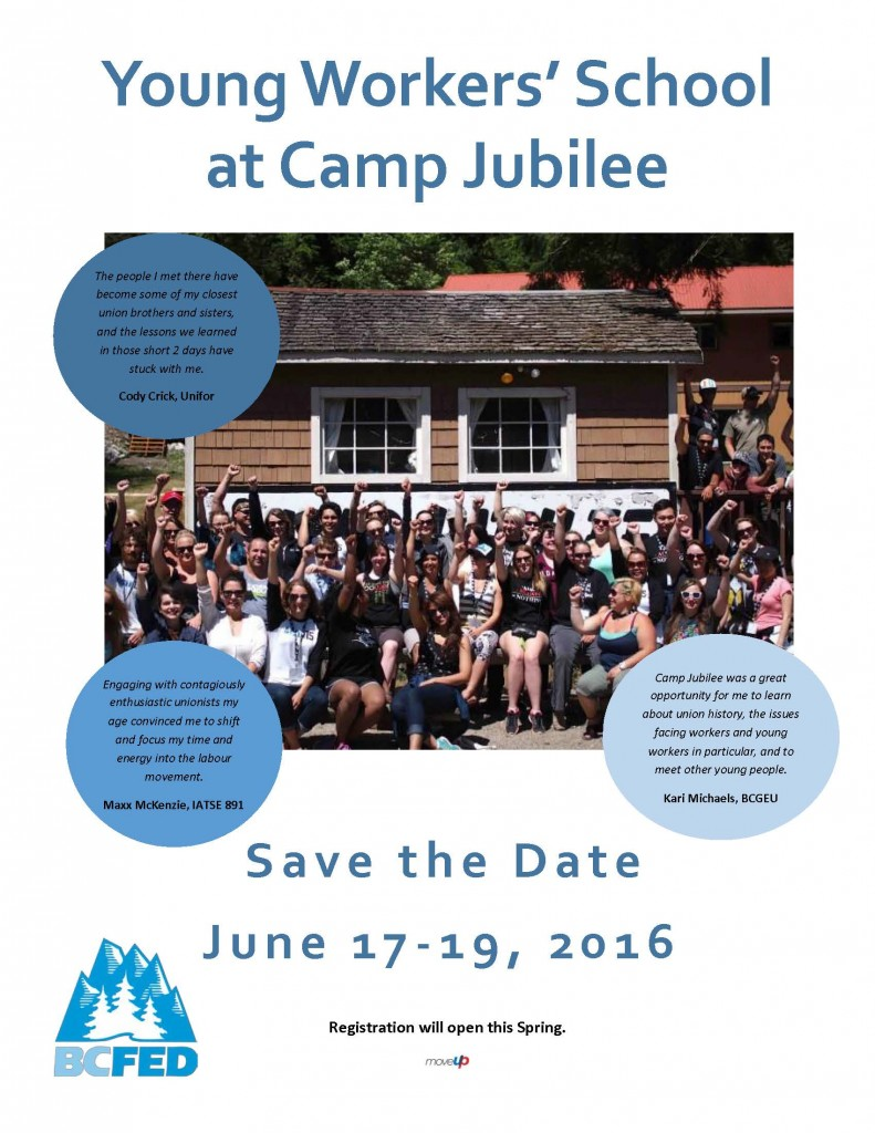 Save the Date Camp Jubilee Flyer