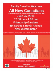 Welcome new Canadians poster
