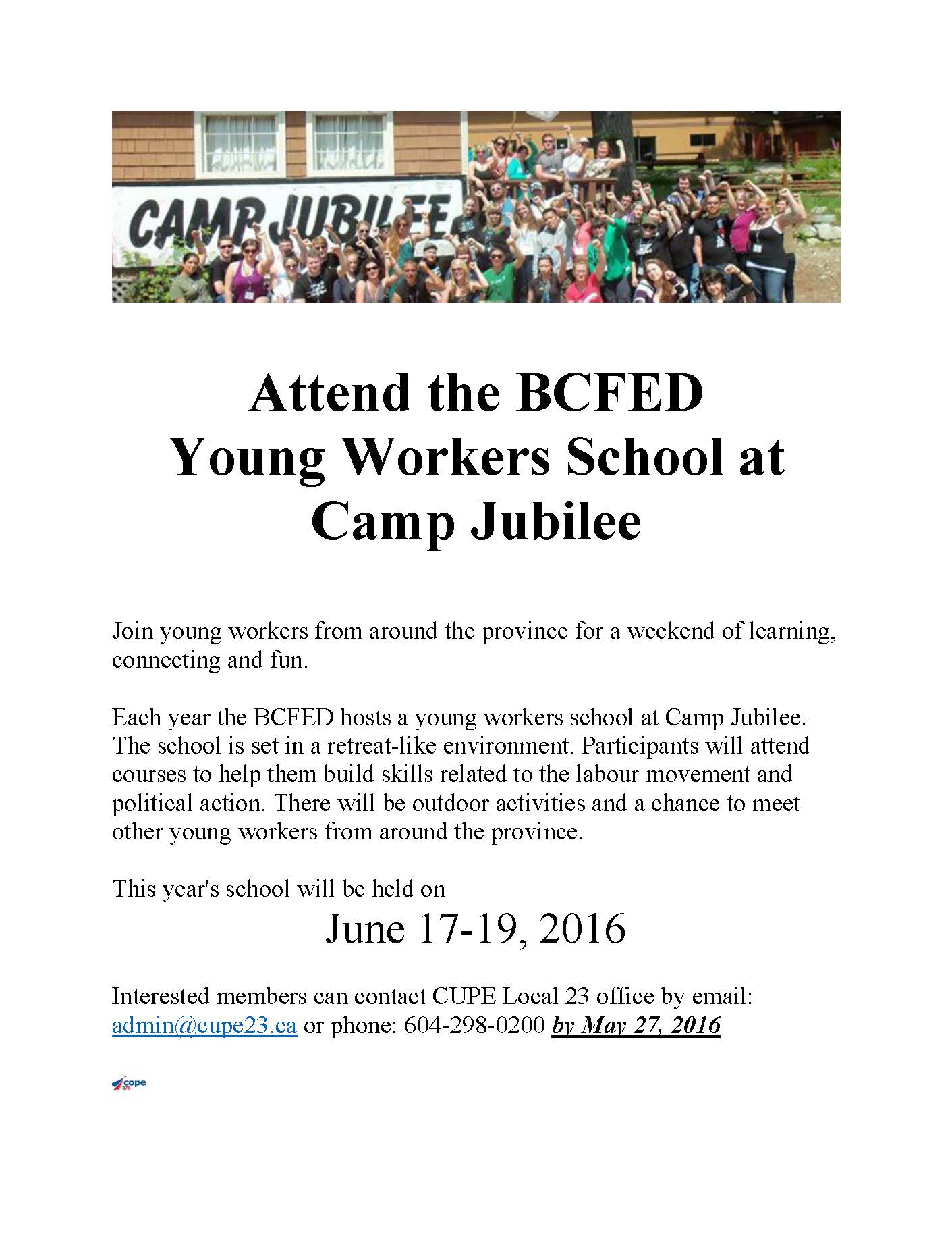 Young Workers School Flyer 2016