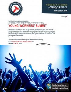 Young Workers' Summit Flyer