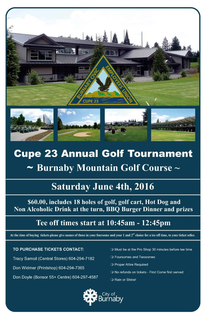 Cupe 23 Golf Poster-2016