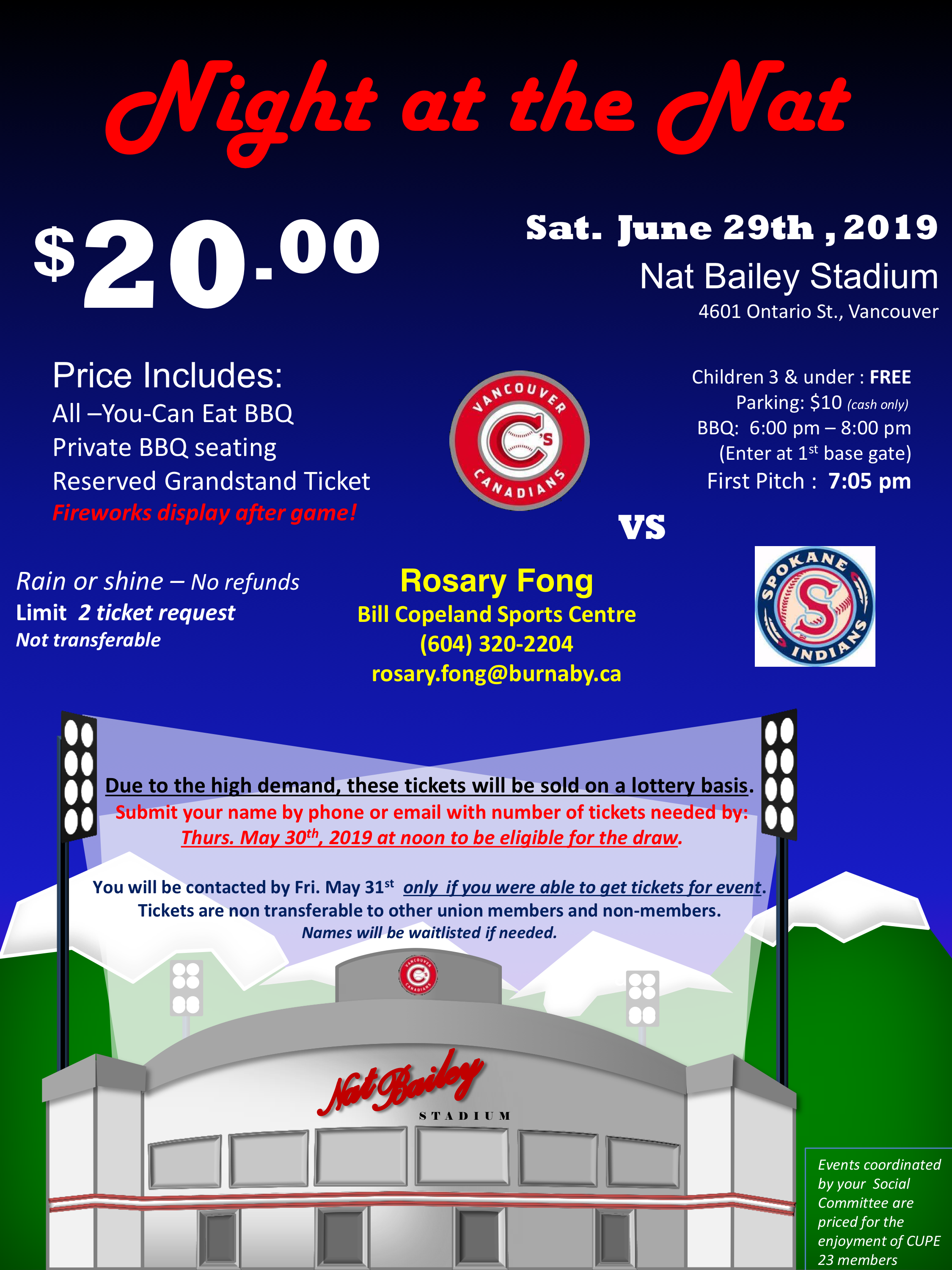 2019 Night at the Nat! – CUPE 23